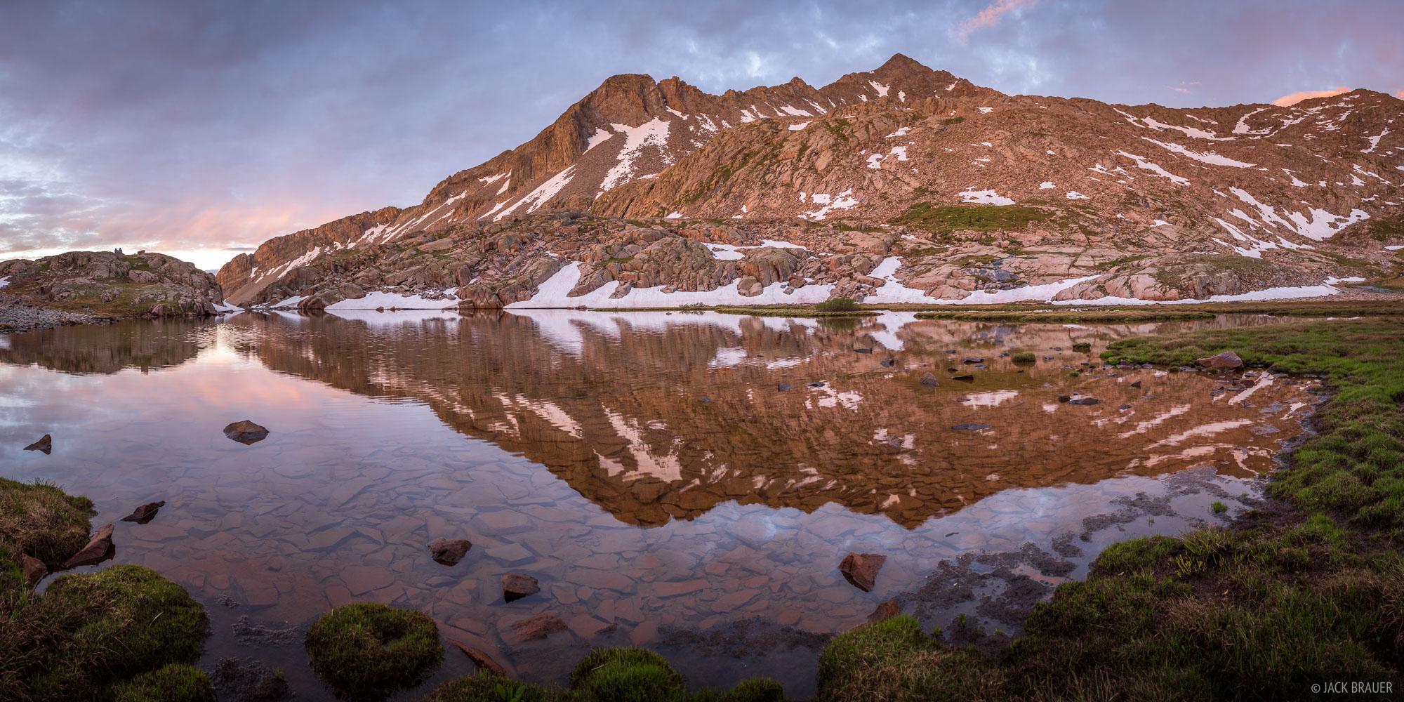 Dawn light illuminates Gladstone Peak.