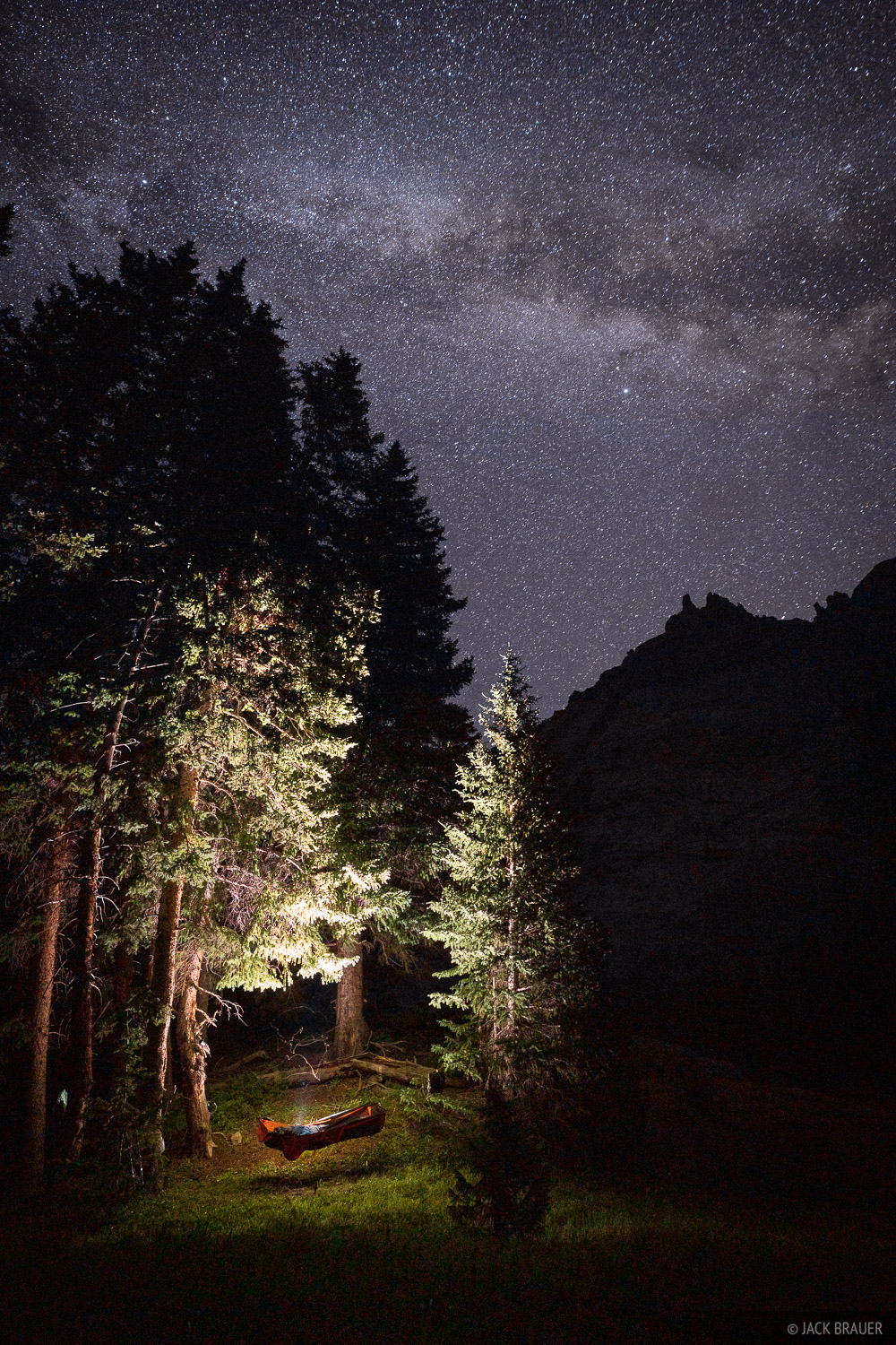 Colorado, Ouray, San Juan Mountains, hammock, stars, camping, photo