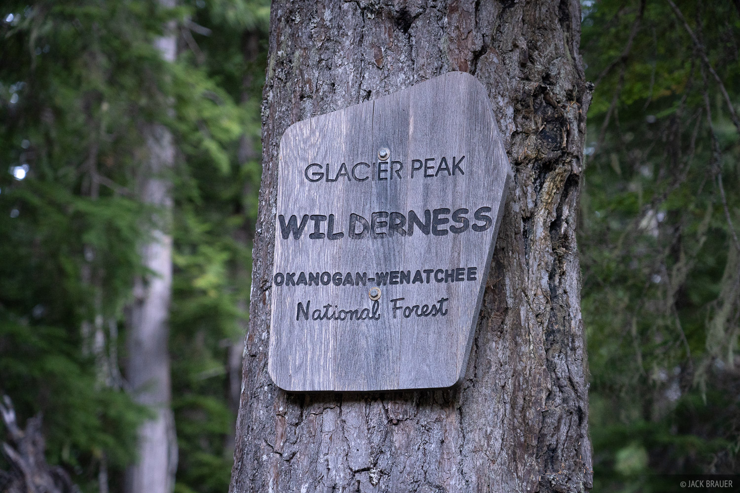 Glacier Peak Wilderness, Washington, sign, Cascades, photo