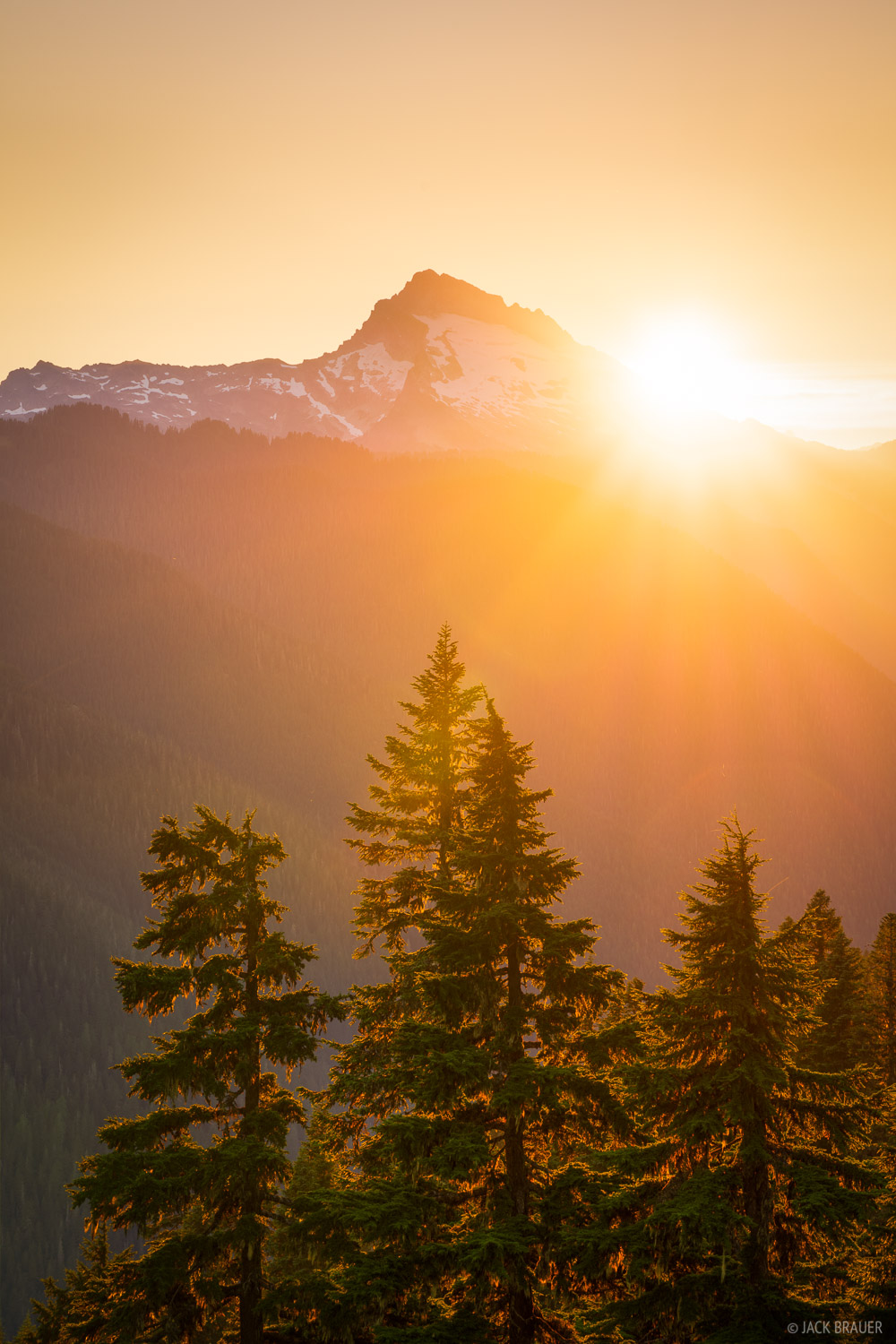 Sunset behind Sloan Peak (7,835 ft.).