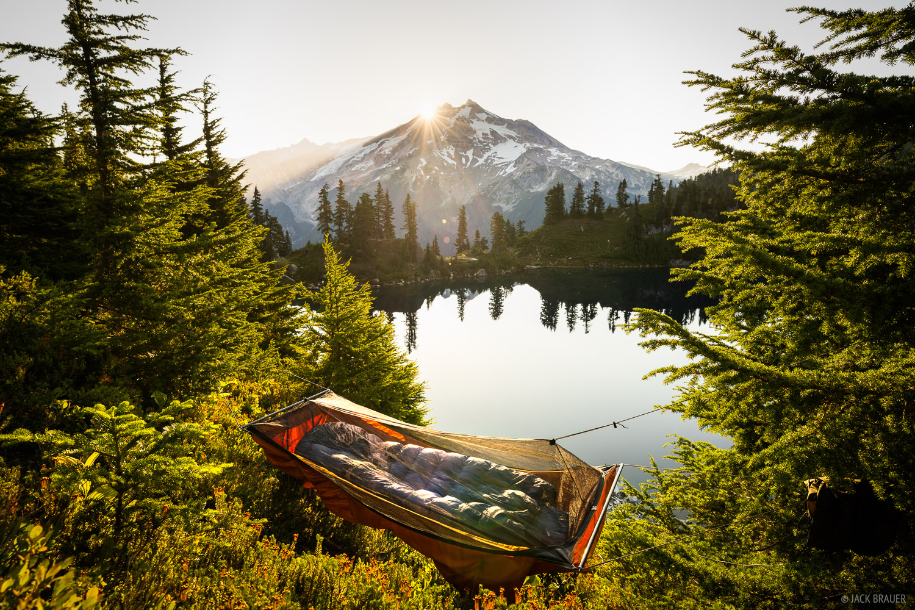 Glacier Peak, Glacier Peak Wilderness, Lake Byrne, Washington, hammock, Cascades, photo