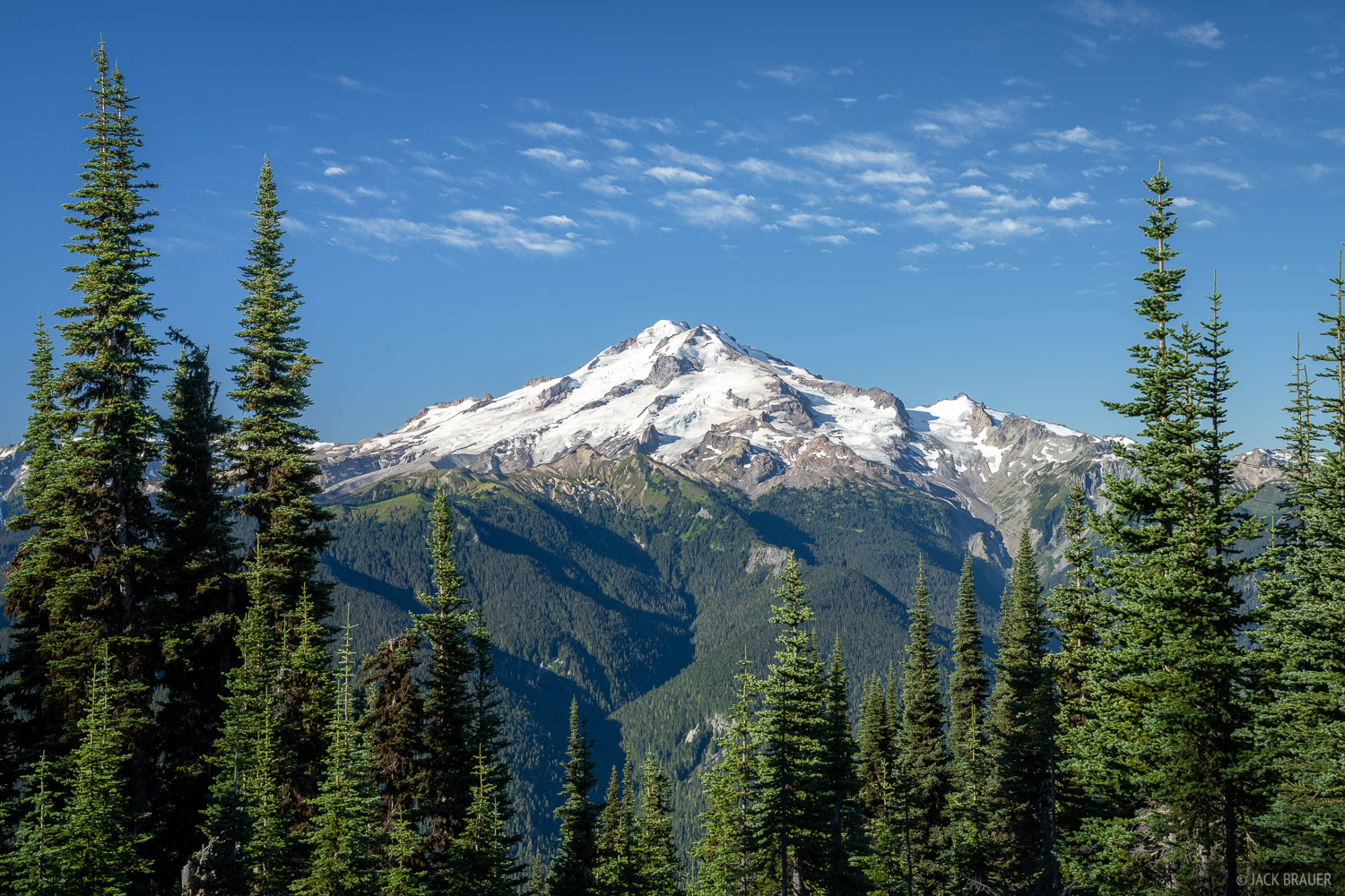 Glacier Peak on a clear blue sky day.