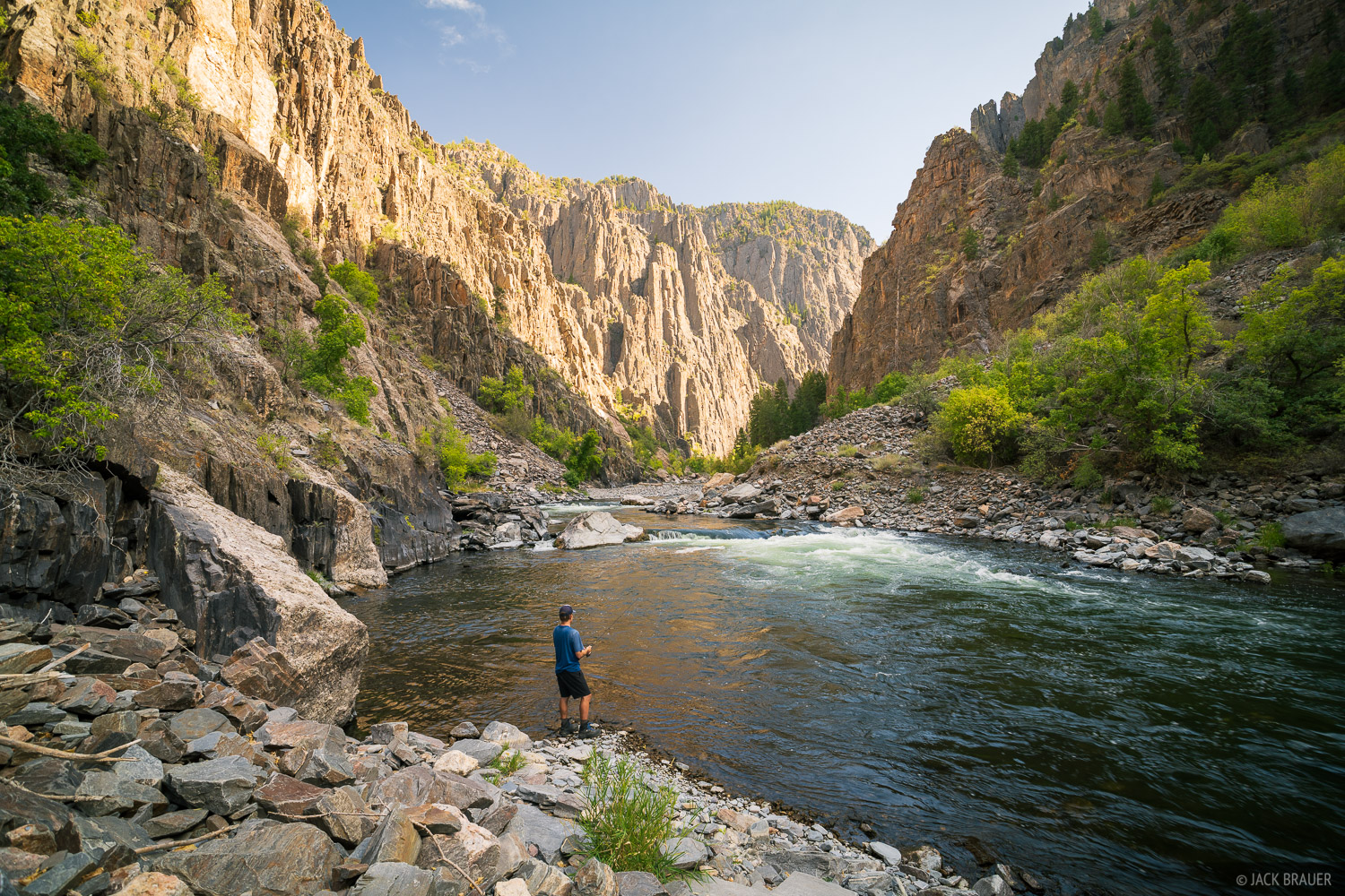 Fishing in the Gunnison River at the bottom of the Black Canyon.
