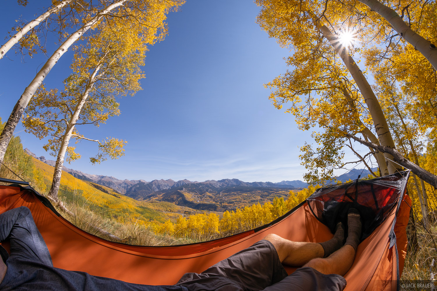 Deep Creek Trail, aspens, hammock, autumn, fall, photo