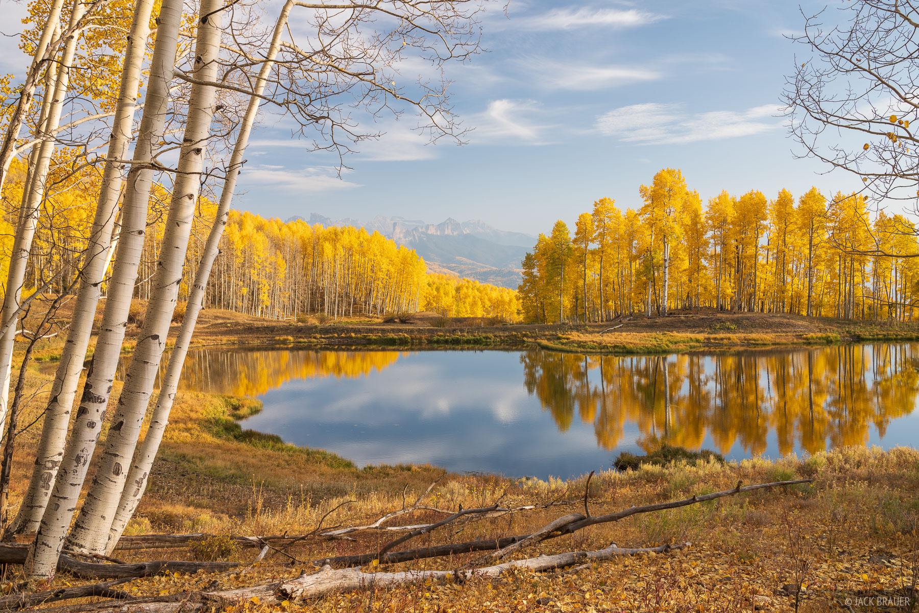 Cimarrons, Colorado, Courthouse Mountain, San Juan Mountains, aspens, autumn, fall, photo