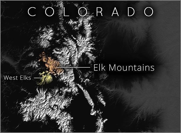 Elk Mountains map
