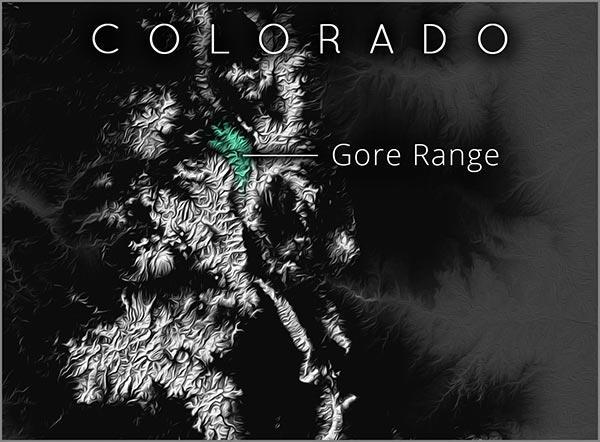 Gore Range map