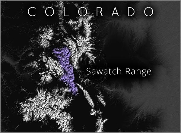 Sawatch Range map